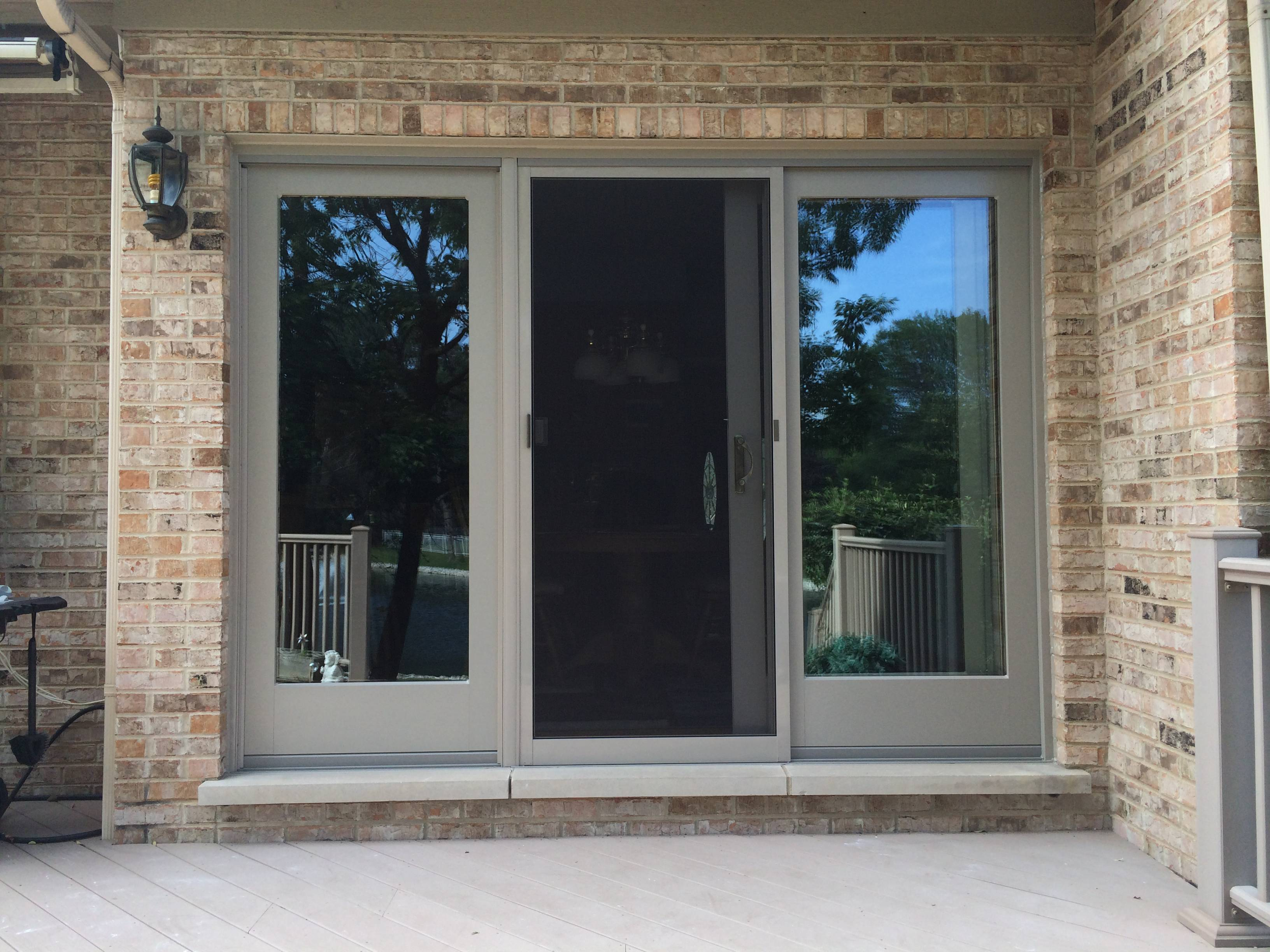 Frenchwood Andersen Gliding Patio Door Barkwood Gaf