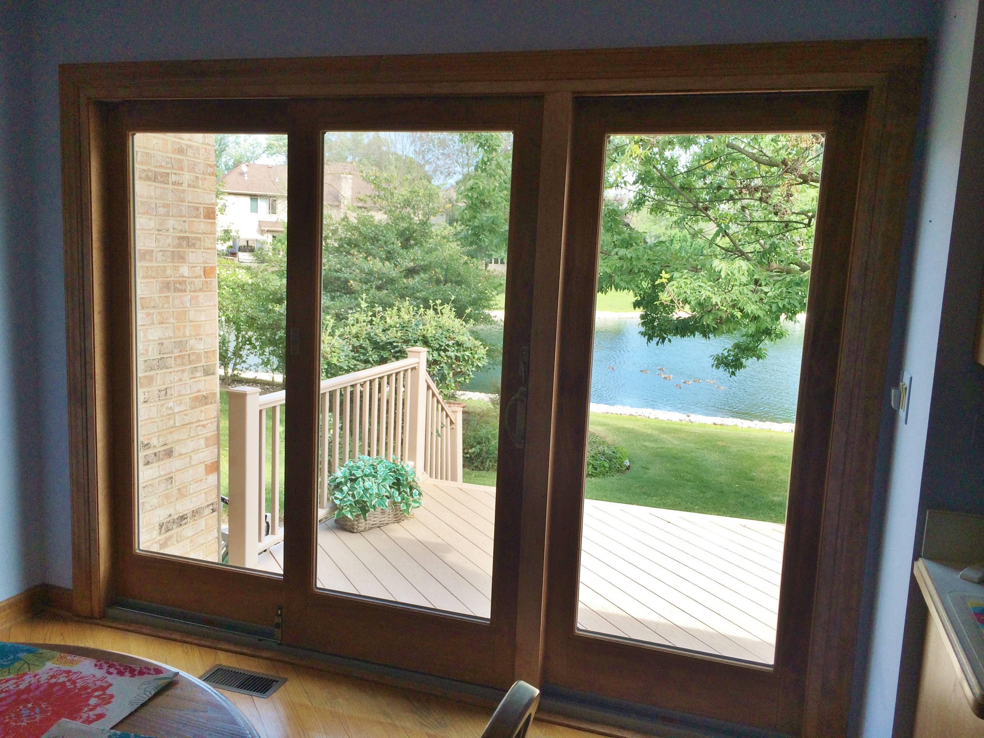 Frenchwood Andersen Gliding Patio Door, Barkwood GAF Roofing U0026 Velux  Skylights In Elmhurst