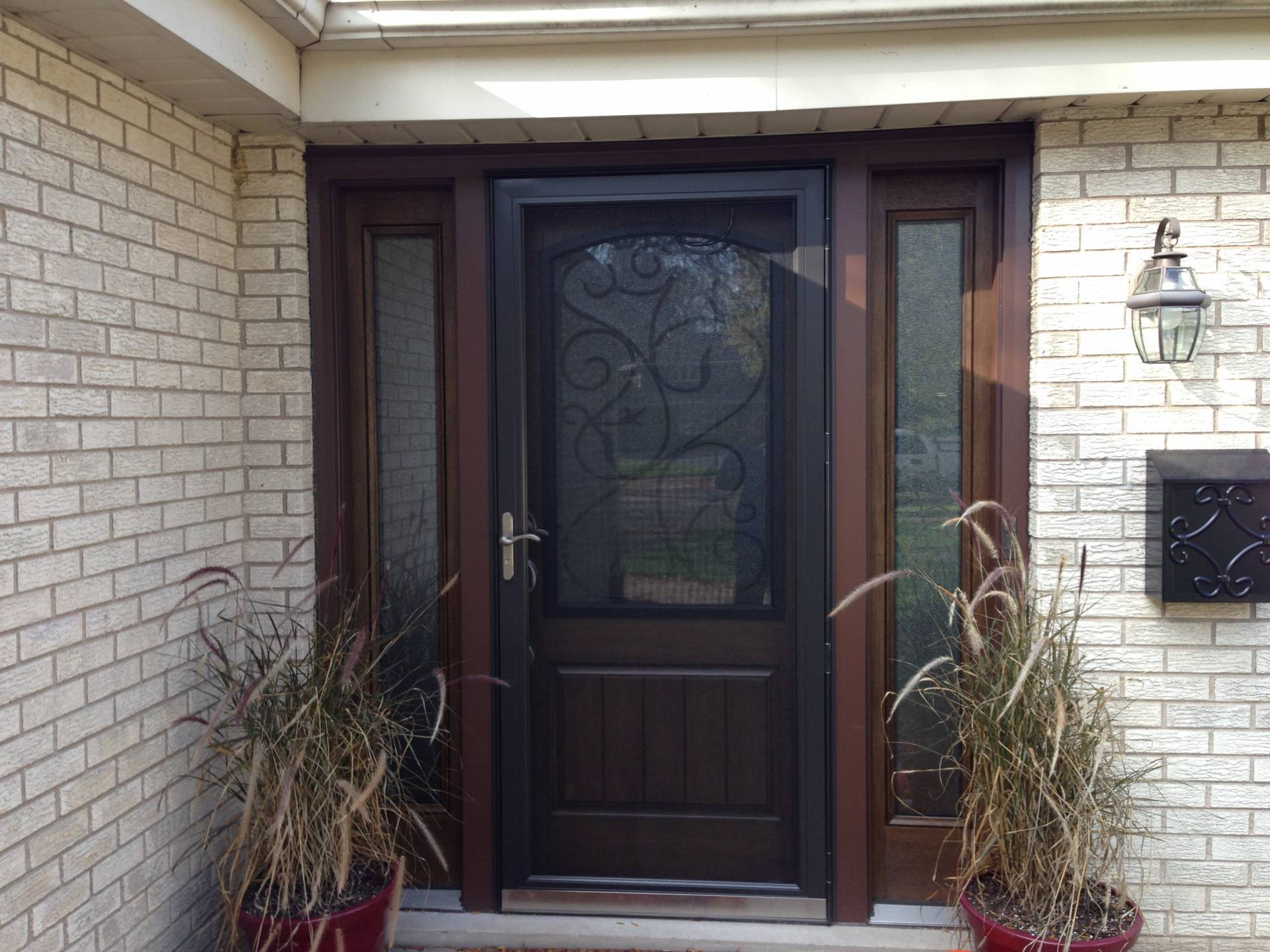 Andersen a series 100 series windows andersen storm for Front entry doors with storm door