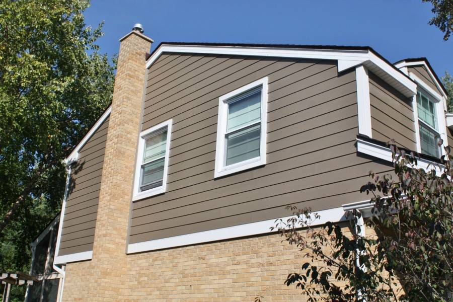 Hardie Timber Bark Arctic White Trim Amp Custom Wood Porch Ceiling In Naperville Opal