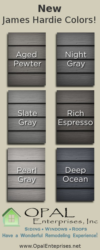 New james hardie siding colors available may 1st spring for New siding colors