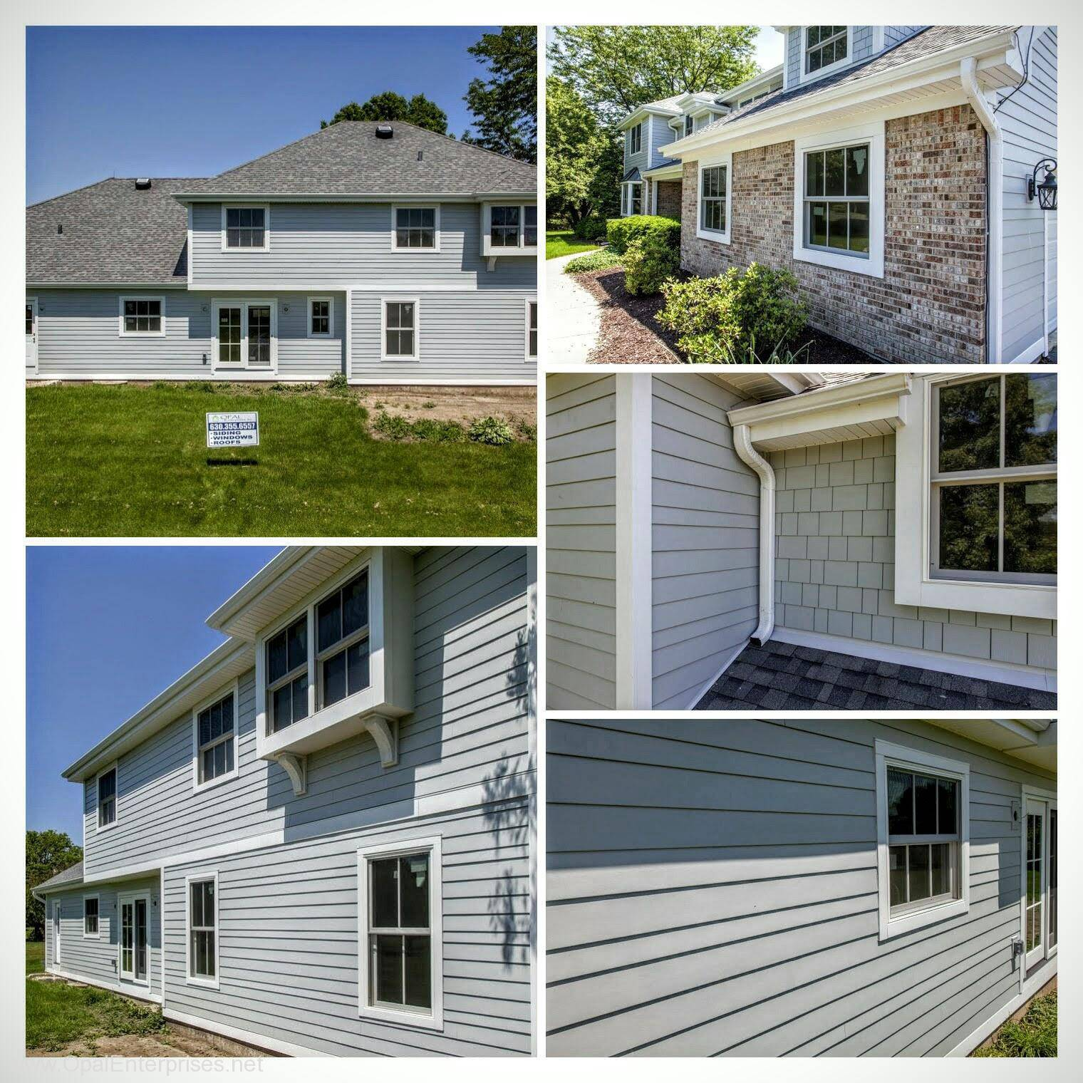 Trendy New Exterior With Mixed Siding Widths