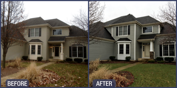Before & After Mastic Siding Installation in Geneva IL