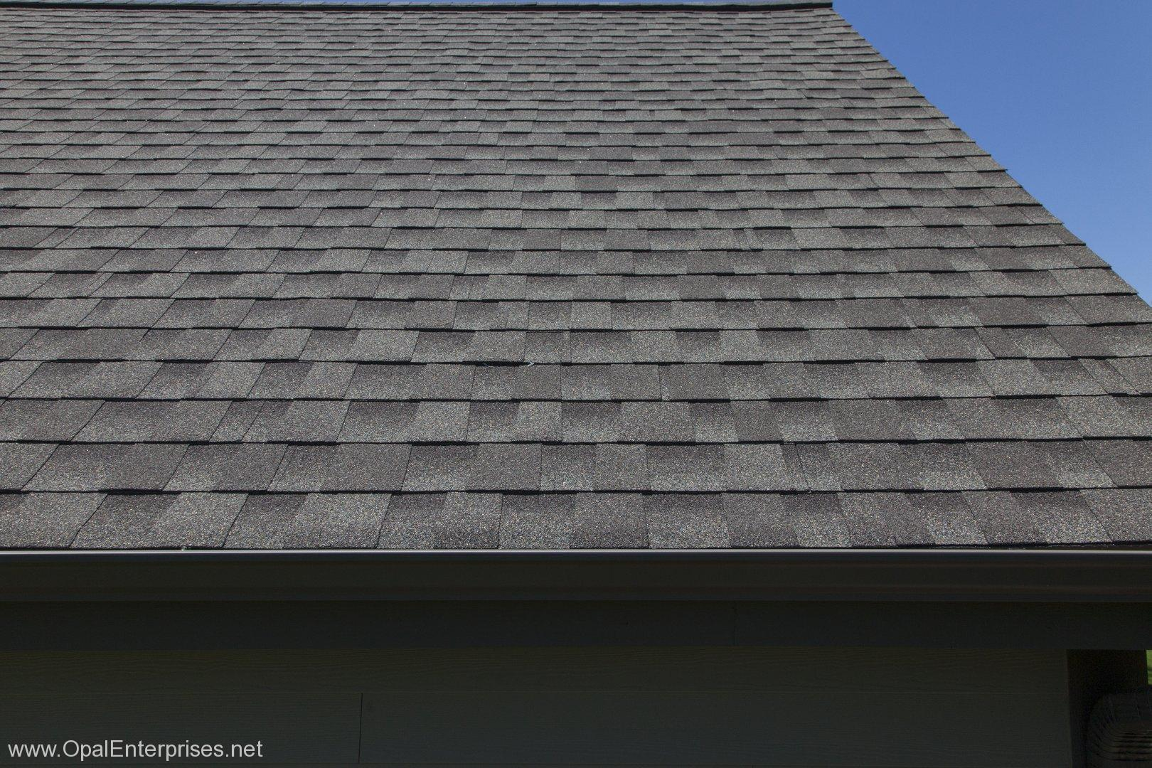 GAF roofing Timberline HD shingles in Weathered Wood